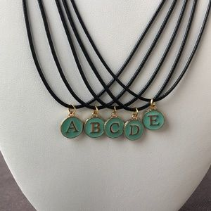 Jewelry - 2/$20 Tiffany Blue Typewriter Initial Necklace